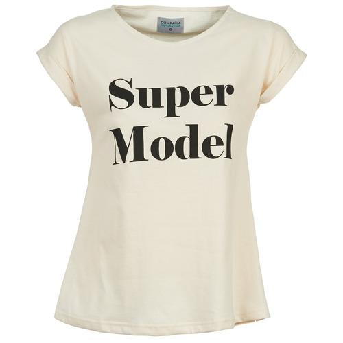 Vêtements Femme T-shirts manches courtes Compania Fantastica HITTU Blanc