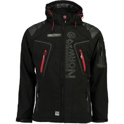 Vêtements Homme Blousons Geographical Norway Blouson à capuche TECHNO MEN 007 SOFTSHELL noir