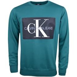 Vêtements Homme Sweats Calvin Klein Jeans Sweat  vert flocage noir pour homme Vert