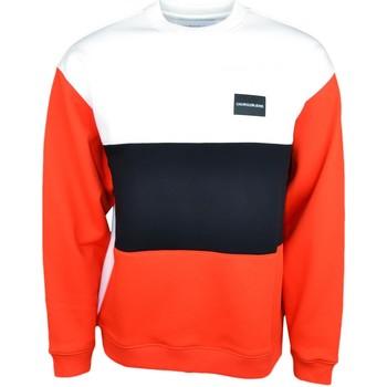 Vêtements Homme Sweats Calvin Klein Jeans Sweat ample  blanc rouge et noir pour homme Rouge