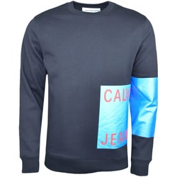 Vêtements Homme Sweats Calvin Klein Jeans Sweat col rond  noir flocage bleu pour homme Noir