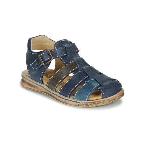 Chaussures Garçon Sandales et Nu-pieds Citrouille et Compagnie ZIDOU Marine / Gris