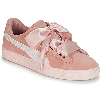 Chaussures Fille Baskets basses Puma JR SUEDE HEART JEWEL.PEACH ROSE