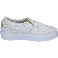 Chaussures Femme Slip ons 2 Stars slip on blanc textile or BZ525 blanc
