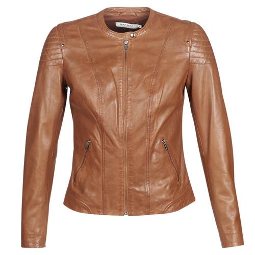 Vêtements Femme Vestes en cuir / synthétiques Naf Naf CLIM Cognac