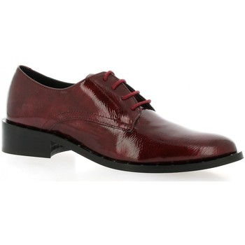 Chaussures Femme Derbies So Send Derby cuir vernis rouge