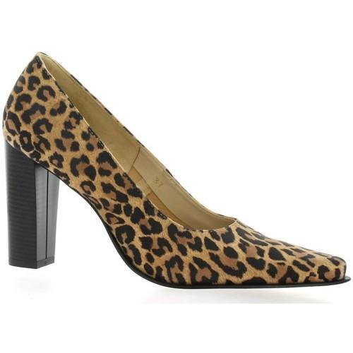 Chaussures Femme Escarpins Vidi Studio Escarpins cuir velours Leopard