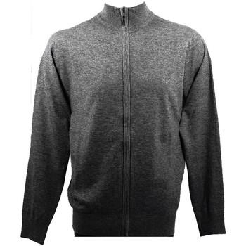 Vêtements Homme Gilets / Cardigans Real Cashmere Gilet  (Anthracite)- IUB109904-GIUBBINO-ZIP Anthracite