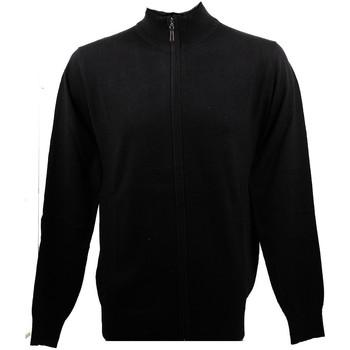 Vêtements Homme Gilets / Cardigans Real Cashmere Gilet Real Noir