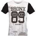 Jack & Jones Tee Shirt Mc Orbronx Blanc Noir