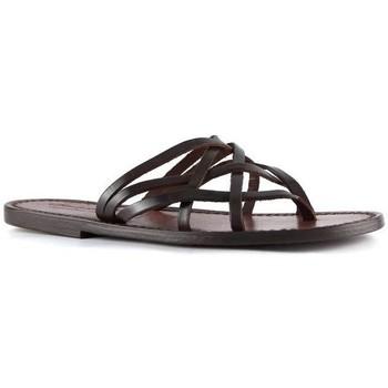 Chaussures Femme Sandales et Nu-pieds Gianluca - L'artigiano Del Cuoio 543 D MORO CUOIO Testa di Moro