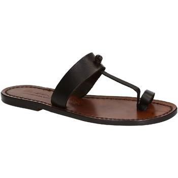 Chaussures Femme Sandales et Nu-pieds Gianluca - L'artigiano Del Cuoio 554 D MORO CUOIO Testa di Moro