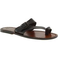 Chaussures Femme Sandales et Nu-pieds Gianluca - L'artigiano Del Cuoio 556 D MORO CUOIO Testa di Moro