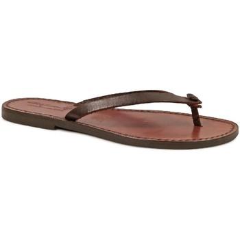 Chaussures Femme Tongs Gianluca - L'artigiano Del Cuoio 540 D MORO CUOIO Testa di Moro