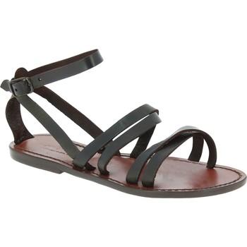 Chaussures Femme Sandales et Nu-pieds Gianluca - L'artigiano Del Cuoio 581 D MORO CUOIO Testa di Moro