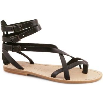 Chaussures Femme Sandales et Nu-pieds Gianluca - L'artigiano Del Cuoio 564 D NERO LGT-CUOIO nero
