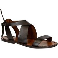 Chaussures Femme Sandales et Nu-pieds Gianluca - L'artigiano Del Cuoio 570 D MORO CUOIO Testa di Moro