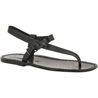 Chaussures Homme Sandales et Nu-pieds Gianluca - L'artigiano Del Cuoio 592 U NERO CUOIO nero