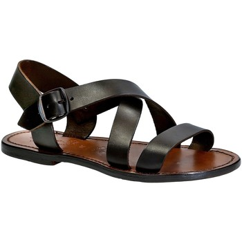 Chaussures Femme Sandales et Nu-pieds Gianluca - L'artigiano Del Cuoio 508X D MORO CUOIO Testa di Moro