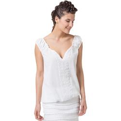 Vêtements Femme Tops / Blouses La Cotonniere TOP DORIANE Blanc