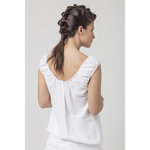 La Cotonniere TOP DORIANE Blanc 14021885