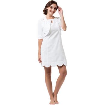 Vêtements Femme Robes courtes La Cotonniere BOLERO DAISY Blanc
