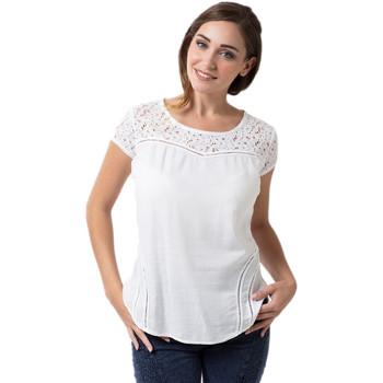 Vêtements Femme Tops / Blouses La Cotonniere HAUT AURELIE Blanc