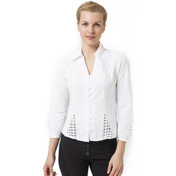 Vêtements Femme Chemises / Chemisiers La Cotonniere CHEMISIER AJUSTE Blanc