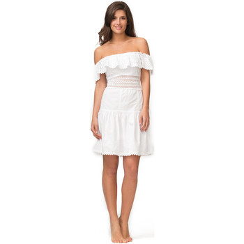 Vêtements Femme Robes courtes La Cotonniere ROBE CLEMENTINE Blanc