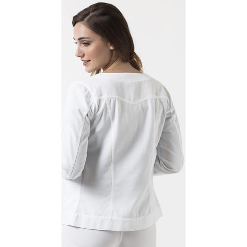 La Femme Tania VestesBlazers Perfecto Blanc Cotonniere OPXkulZTwi
