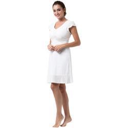Vêtements Femme Robes courtes La Cotonniere ROBE COURTE TRIANA Blanc