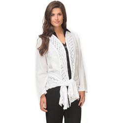 Vêtements Femme Gilets / Cardigans La Cotonniere GILET CYRIELLE Blanc