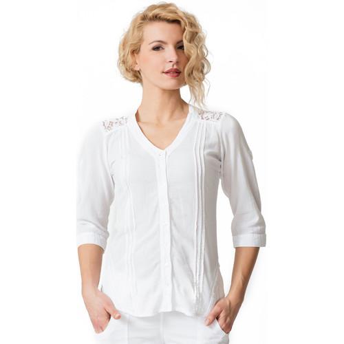 Chemisier Ludzilla Femme La Cotonniere Blanc ChemisesChemisiers u3Jc1TlFK
