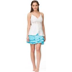 Vêtements Femme Tops / Blouses La Cotonniere TOP FLEUR Blanc