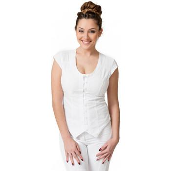 Vêtements Femme Tops / Blouses La Cotonniere GILET PANDORA Blanc