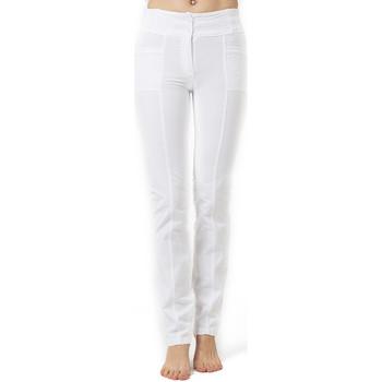 Vêtements Femme Pantalons 5 poches La Cotonniere PANTALON PANDORA Blanc