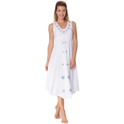 Vêtements Femme Robes longues La Cotonniere ROBE LONGUE PERLES Blanc