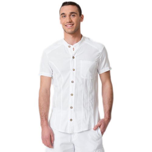 Cotonniere Manches Blanc Chemise Bilbao Chemises Courtes Homme La tQsChdr