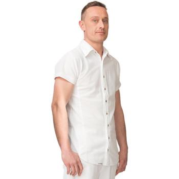 Vêtements Homme Chemises manches courtes La Cotonniere CHEMISE BORA BORA Blanc