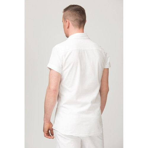 Bora Courtes La Manches Chemise Cotonniere Chemises Homme Blanc POZiXuwkT