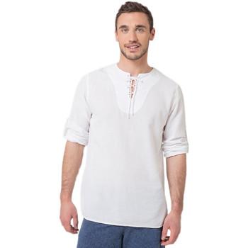 Vêtements Homme T-shirts manches longues La Cotonniere TUNIQUE TORONTO Blanc