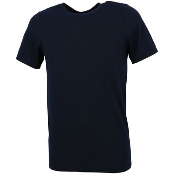 Vêtements Homme T-shirts manches courtes First Price Performance navy mc Bleu marine / bleu nuit