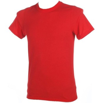 Vêtements Homme T-shirts manches courtes First Price Performance red mc Rouge