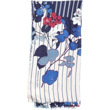 Accessoires textile Femme Echarpes / Etoles / Foulards Pennyblack 55440818 Écharpe femme Bleu et Beige Rouge Bleu et Beige Rouge