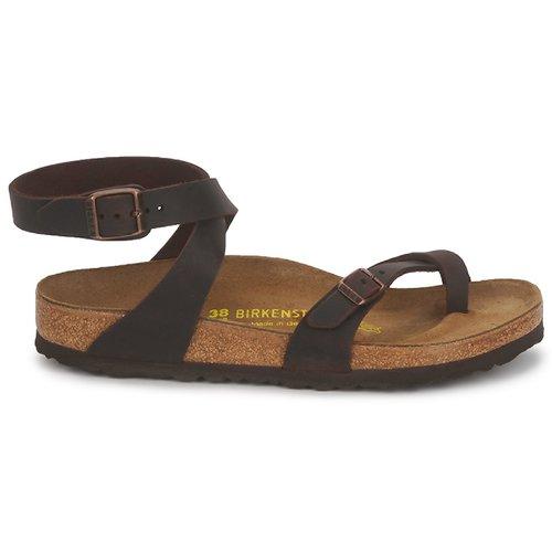 Nu Sandales pieds Et Femme Birkenstock Premium Marron Yara 7bvmIYf6gy