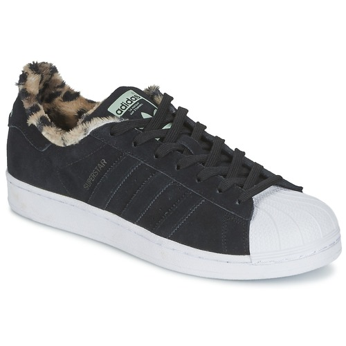 Chaussures Femme Baskets basses adidas Originals SUPERSTAR W Noir
