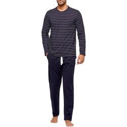 Vêtements Homme Pyjamas / Chemises de nuit Impetus Pyjama homme long rayé en coton organique Bleu