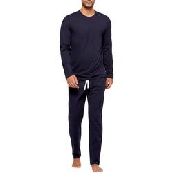 Vêtements Homme Pyjamas / Chemises de nuit Impetus Pyjama homme long en coton organique Bleu