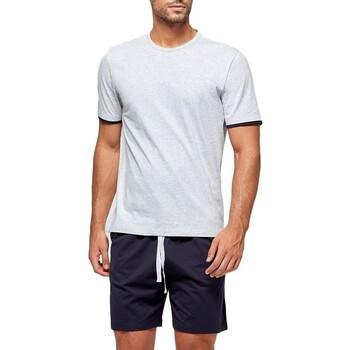 Vêtements Homme Pyjamas / Chemises de nuit Impetus Pyjama homme court en coton organique Gris