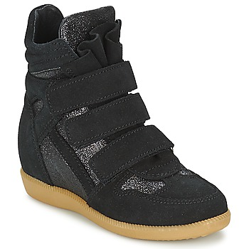 Chaussures Fille Baskets montantes Acebo's MILLIE Noir